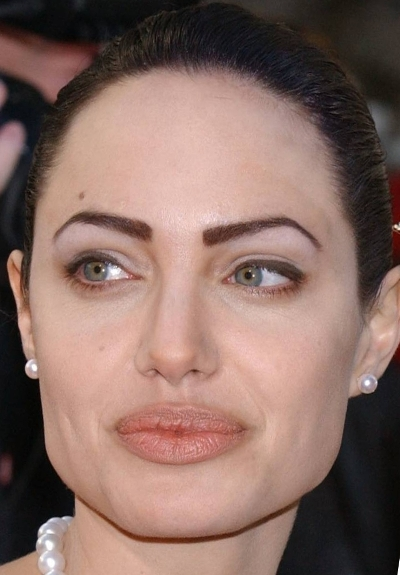 Angelina Jolie - Permanent Makeup?