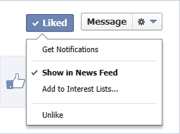 How to follow a facebook page